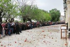 Korfu Grekland 19/04/2014, påskberöm royaltyfria foton