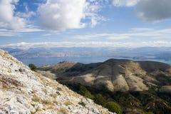 Korfu-Insel auf die Oberseite Stockbild