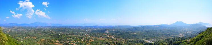 Korfu-Insel-Panorama, Griechenland Stockfotos