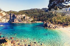 Korfu-Küste Lizenzfreies Stockfoto