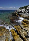 Korfu-Küstenlinie Stockbild