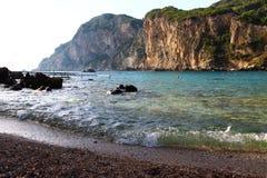 Korfu klippor Arkivbild