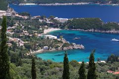 Korfu-Landschaft lizenzfreie stockfotos