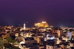 Korfu-Nachtlandschaft lizenzfreie stockfotografie