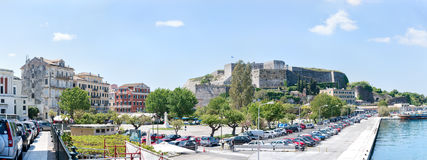 Korfu ny fästning Arkivfoton