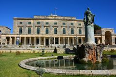 Korfu-Palast, Korfu-Stadt stockfotografie