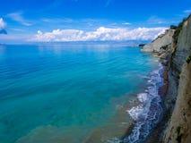 Korfu - Peroulades klippor Royaltyfri Foto