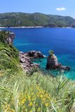 Korfu-Seelandschaft stockfoto