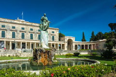 Korfu slott av St Michael och George royaltyfri fotografi