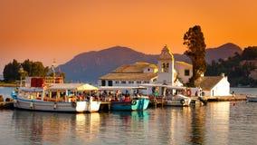 Korfu stad, Grekland Arkivfoton