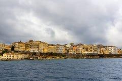 Korfu stad, Korfu ö, Grekland Royaltyfri Fotografi