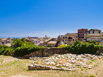 Korfu-Stadt Stockfotos