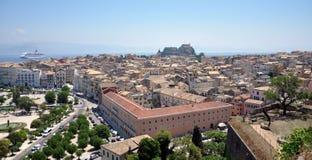 Korfu-Stadt, Griechenland Stockbild