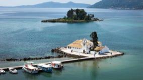 Korfu-Stadtkapelle, Griechenland stockbilder