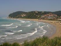 Korfu strand Royaltyfria Bilder