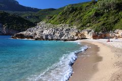 Korfu strand Arkivbild