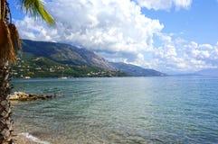 Korfu strand Fotografering för Bildbyråer