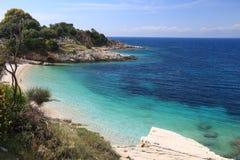 Korfu strand Royaltyfri Fotografi
