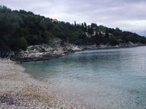 Korfu strand Arkivfoton