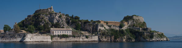 korfu widok Greece Zdjęcia Royalty Free