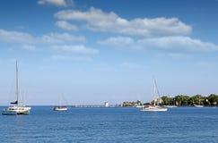 Korfu wybrzeże wyspy paleokastrica Greece Zdjęcia Royalty Free
