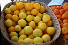 Korg av citroner Arkivbild