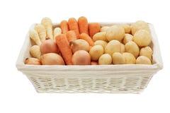 Korg av grönsaker Arkivbilder