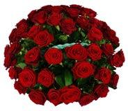 Korg av röd ros 51 Fotografering för Bildbyråer