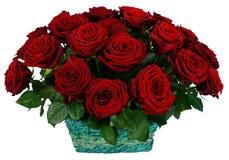 Korg av röd ros 51 Royaltyfria Bilder