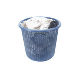 Korg av smutsiga sockor för smutsig tvätteri Royaltyfria Bilder