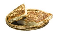 Korg med bröd Royaltyfria Bilder