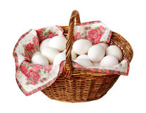 Korg med fega ägg Royaltyfria Foton