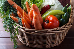 Korg med grönsaker Royaltyfria Bilder