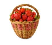 Korg med jordgubbar Royaltyfri Foto