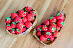 Korg två av jordgubben Royaltyfria Foton