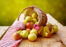 Korgar av äpplen Royaltyfri Foto