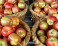 Korgar av äpplen Royaltyfria Foton