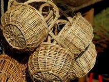Korgar som göras av handwork arkivbild