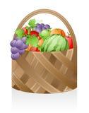 korgfrukt royaltyfri illustrationer