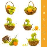 korgfrukter Arkivbilder