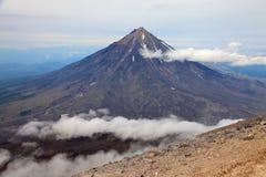 Koriaksky wulkan Fotografia Royalty Free