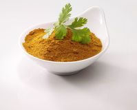 Koriander auf Curry Stockfotos