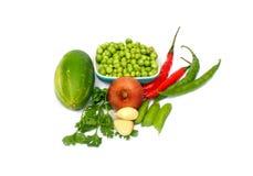Koriandersidor, chili, beens, lök, kryddig vitlök Royaltyfri Foto