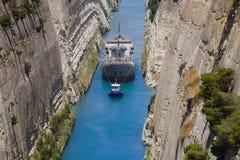 Korinth-Überfahrt Lizenzfreie Stockbilder