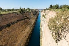 Korinth Bridge in Greece. Corinth Canal in Greece, Europe stock photos