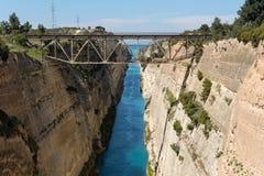 Korinth Bridge in Greece. Corinth Canal in Greece, Europe stock images