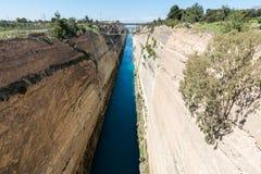 Korinth Bridge in Greece. Corinth Canal in Greece, Europe royalty free stock photo