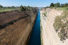 Korinth Bridge in Greece. Corinth Canal in Greece, Europe stock image