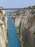 Korinth-Kanal Stockbilder