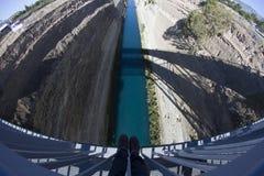 Korinth-Kanal, Griechenland lizenzfreies stockbild